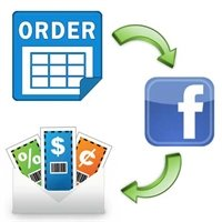 share your order to Facebook and get discount