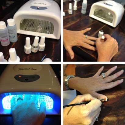how to apply gel nails at home