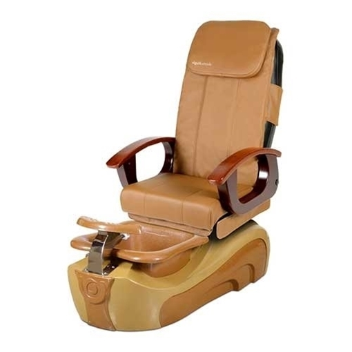 Fedora pedicure chair with cappuccino leather color