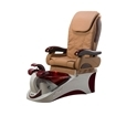 Angel pedicure spa in silver burgundy base & cappuccino top chair