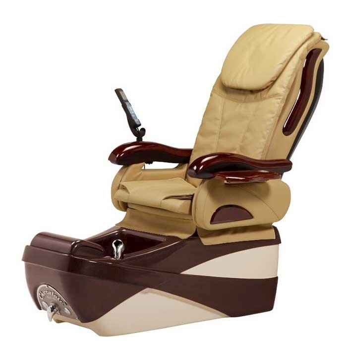 Chocolate SE pedicure spa in chocolate base and beige top chair
