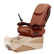 Chocolate SE pedicure spa in almond/cappuccino base and mission tile top chair