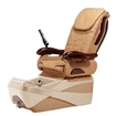 Chocolate SE pedicure spa in almond/cappuccino base and cappuccino top chair
