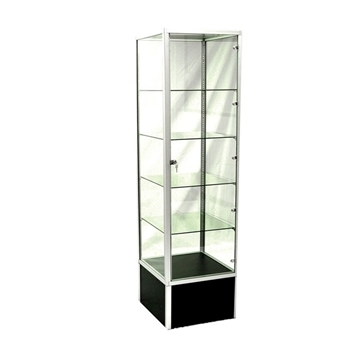 Picture of Glass Tower Polish Display Case Black