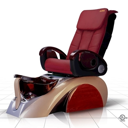 D5 pedicure spa in silver base and burgundy top