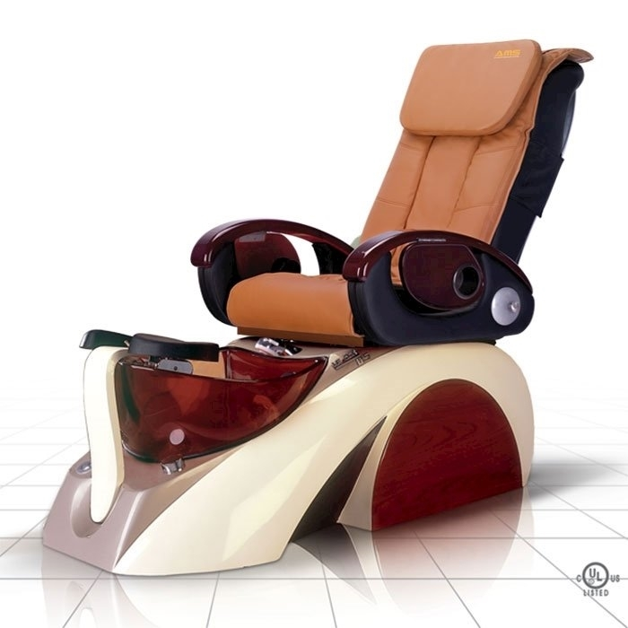 D5 pedicure spa in white base and cappuccino top