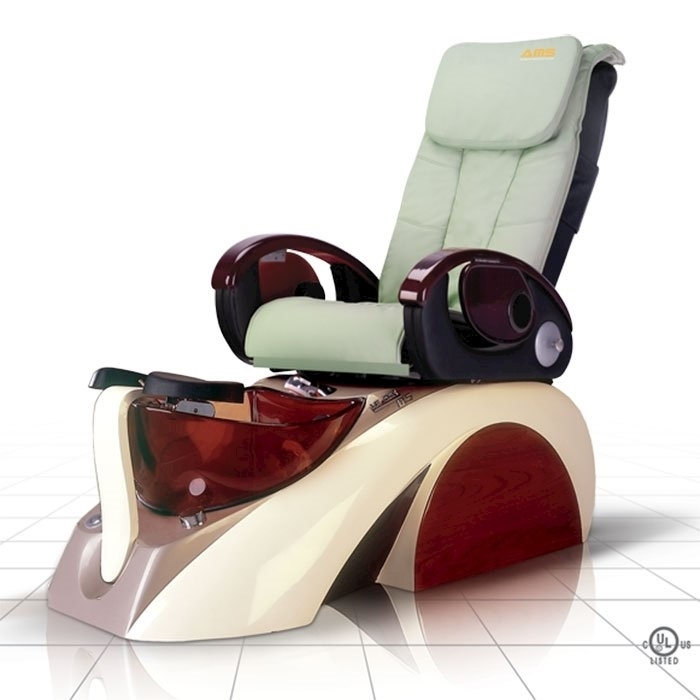 D5 pedicure spa in white base and pale green top