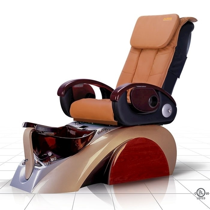 D5 pedicure spa in silver base and cappuccino top