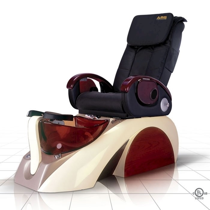 D5 pedicure spa in white base and black top