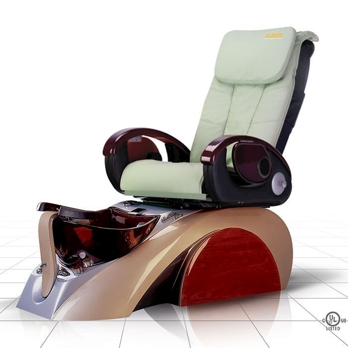 D5 pedicure spa in silver base and pale green top