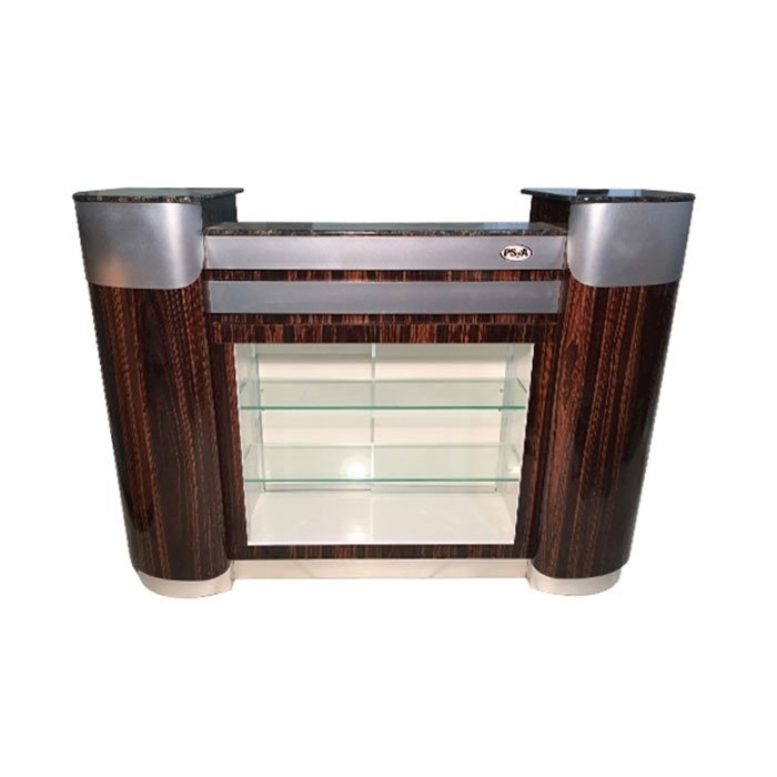 C-108 Reception Counter Cherry/Aluminum