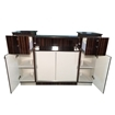 C-108 Reception Counter Cherry/Chestnut Back View With Doors Open