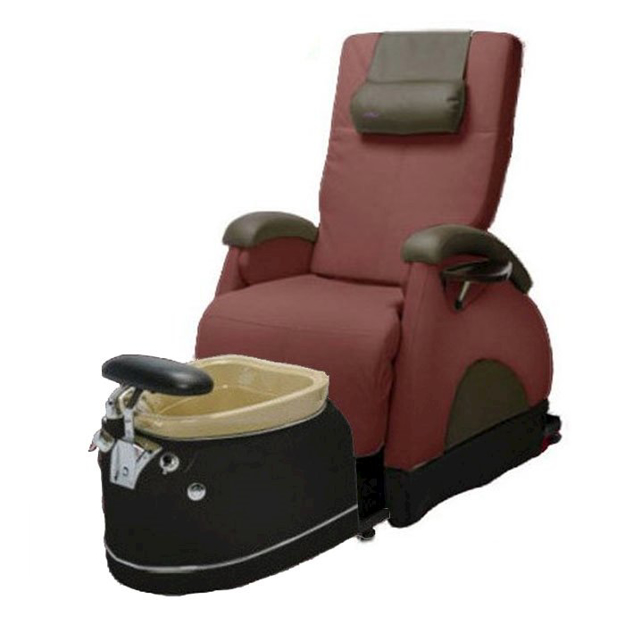 EZ Back Zero Gravity Luxury Spa Chair Holly Hock With Black Base