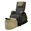 EZ Back Zero Gravity Luxury Spa Chair Black With Biscuit Base