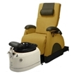 Deluxe Zero Gravity Pedicure Chair Butterscotch and White Base