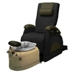 Deluxe Zero Gravity Pedicure Chair Black And Crystal Bowl