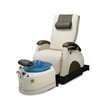 Deluxe Zero Gravity Pedicure Chair Bone And Blue Bowl