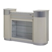 C-108 Reception Counter Beige Aluminum