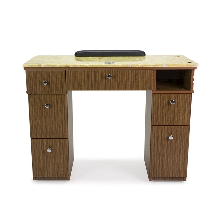 Avon II Nail Table With Vent Back View