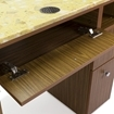 Avon II Nail Table With Vent Back View With Open Drawer