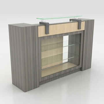 Alera Reception Counter With Glass Display