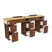 Verona II Double Manicure Table Back View
