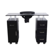 Glasglow Manicure Table Black Back View