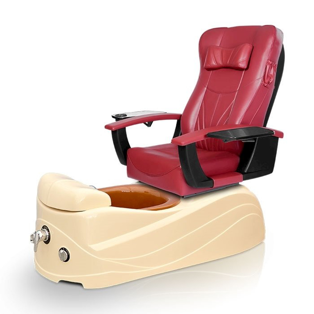 Azura Spa Pedicure Chair Burgundy