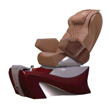 Z500 Spa Pedicure Chair Cappuccino And Burgundy Base