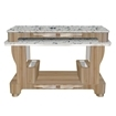 light brown nail dryer with marble top