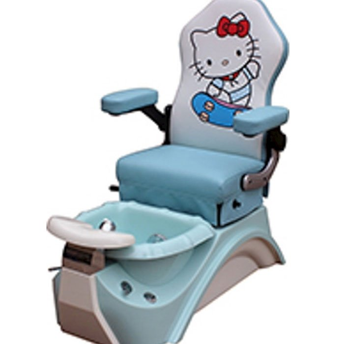 blue kid pedicure chair