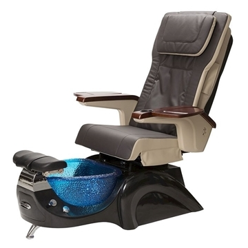 black base and espresso leather pedicure chair
