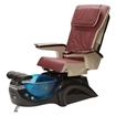 black base and red leather pedicure chair