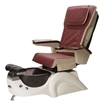 white base and red leather pedicure chair