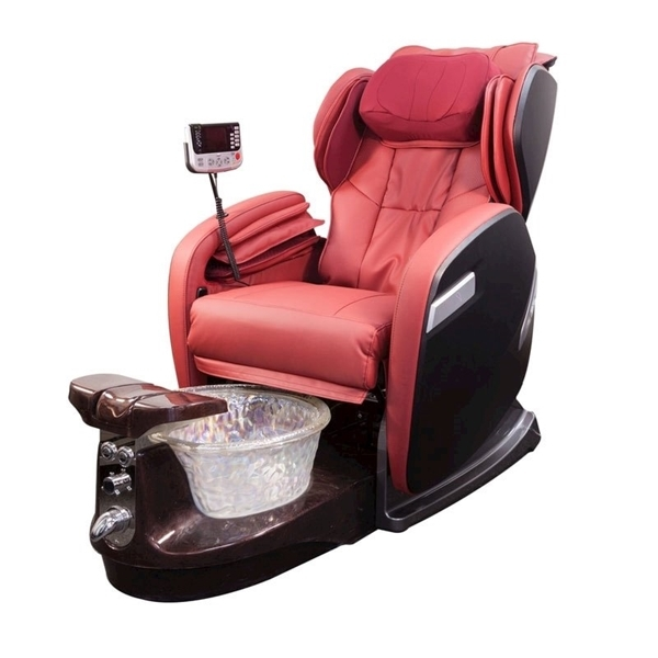 fiori 9000 spa chair with brown base crystal bowl and red chair