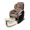 fiori 9000 spa chair with champagne base crystal bowl and brown chair