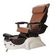 T-135 Pedicure Chair In White Base & Cappuccino Human Touch Massage