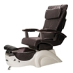 T-135 Pedicure Chair In White Base & Espresso Human Touch Massage