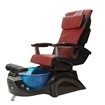 T-135 Pedicure Chair In Black Base & Red Human Touch Massage