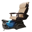 T-135 Pedicure Chair In Black Base & Cream Human Touch Massage