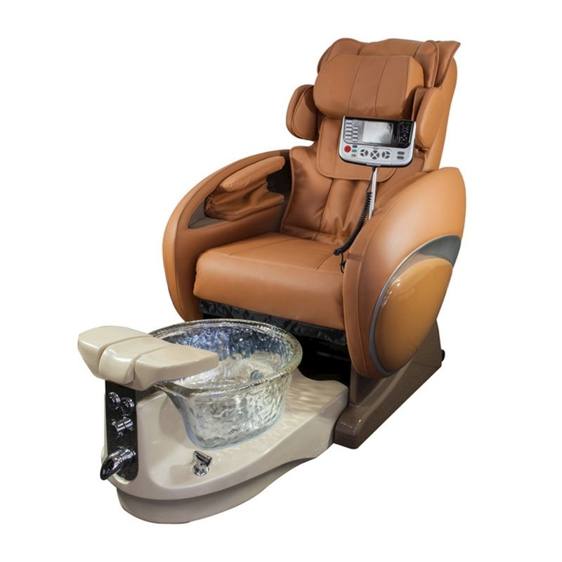 Fiori 8000 Spa Chair With 3D Full Body Massage Cappuccino & Crystal Bowl