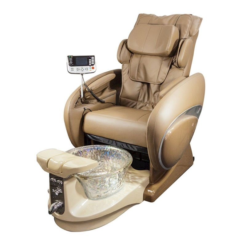 Fiori 8000 Spa Chair With 3D Full Body Massage Coffee Color & Crystal Bowl