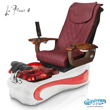 La Fleur 4 spa chair in white base, wine bowl, red insert and 9620 hollyhock