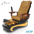 La Fleur 4 spa chair in black base, amber bowl, amber insert and 9620 butterscotch