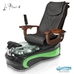 La Fleur 4 spa chair in black base, green bowl, green insert and 9620 black