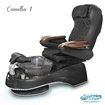 Camellia spa chair in black base, clear bowl, 9660 black with pearl