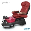 Camellia spa chair in black base, wine bowl, 9660 burgundy