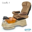 Camellia spa chair in cappuccino base, amber bowl, 9660 curry