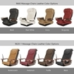 Camellia spa chair top massage model and color options