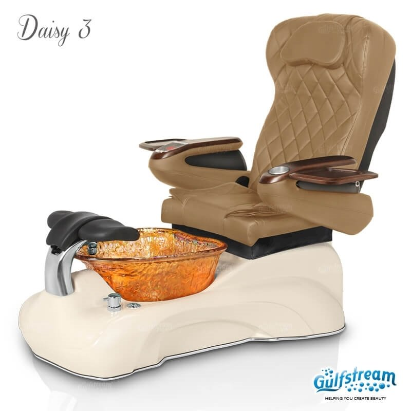 Daisy 3 spa chair in biscuit base, amber bowl, 9660 curry